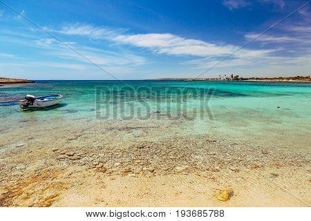 Beautiful Landscape Near Of Nissi Beach And Cavo Greco In Ayia Napa, Cyprus Island, Mediterranean Se