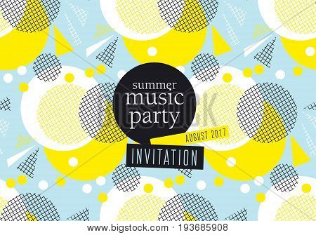 concept modern abstract party poster vector illustration. Print and web design template for summer concert, party, invitation, card