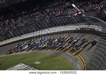 July 01, 2017 - Daytona Beach, FL, USA: Kurt Busch (41) battles for position during the Coke Zero 400 at Daytona International Speedway in Daytona Beach, FL.