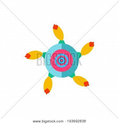 Vector icon of rotating round firework. Pyrotechnics, fun, party. Firework concept. Can be used for topics like entertainment, holiday, festival
