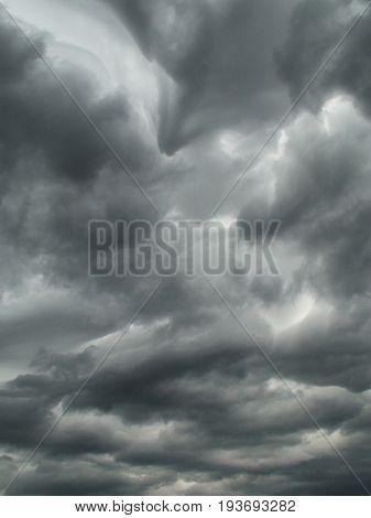 Cumulonimbus clouds, the clouds, the rain, the sky in the clouds