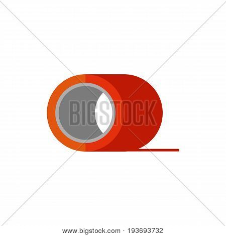 Vector icon of scotch tape. Adhesive tape, stationary, office supplies. Building equipment concept. Can be used for topics like construction, office management, creativity