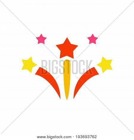 Vector icon of star fireworks pattern. Festival, fun, party. Firework concept. Can be used for topics like entertainment, pyrotechnics, holiday