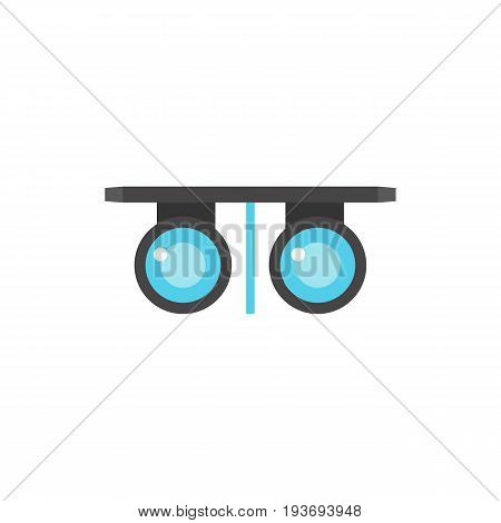 Icon of vision test. Glasses, checking, equipment. Oculist concept. Can be used for topics like vision, medical examination or eyesight