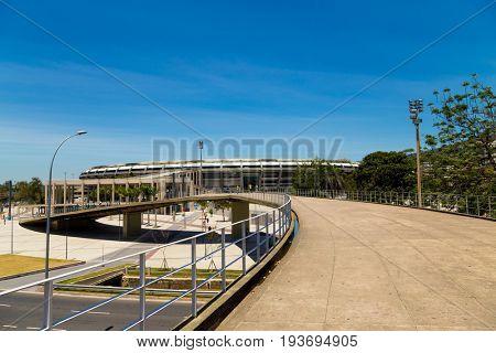 RIO DE JANEIRO, BRAZIL - CIRCA JAN 2014: Maracana Stadium in Rio de Janeiro, Brazil