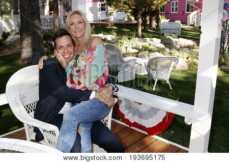 LOS ANGELES - JUL 1:  Dominique Zoida, Katherine Kelly Lang at the