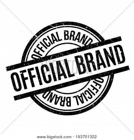 Official Brand rubber stamp. Grunge design with dust scratches. Effects can be easily removed for a clean, crisp look. Color is easily changed.