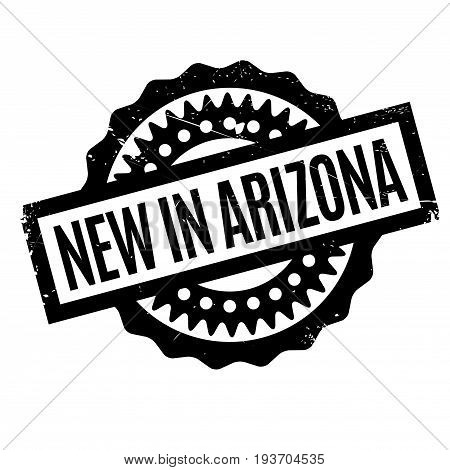 New In Arizona rubber stamp. Grunge design with dust scratches. Effects can be easily removed for a clean, crisp look. Color is easily changed.