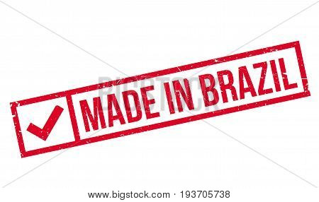 Made In Brazil rubber stamp. Grunge design with dust scratches. Effects can be easily removed for a clean, crisp look. Color is easily changed.
