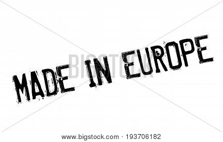 Made In Europe rubber stamp. Grunge design with dust scratches. Effects can be easily removed for a clean, crisp look. Color is easily changed.