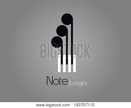 logo musical estilo piano para usar en su negocio