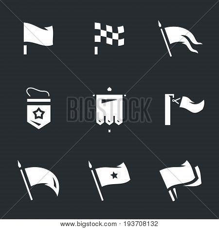 Flag, racing flag, banner, pendant, standard, biathlon flag, signal flags.