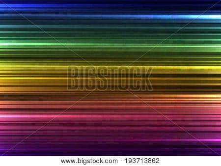 rainbow abstract horizontal line background, digital bar template, technology stream layout, vector illustration