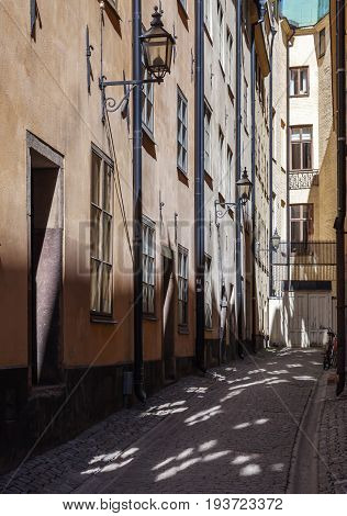 Street In Old Town Of  Stockholm, Sweden