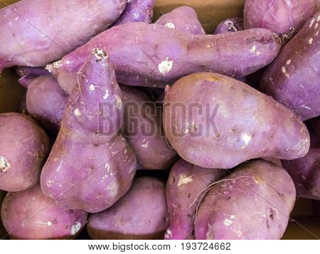 Sweet potato sold at the food mart