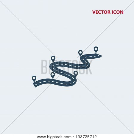 road way location with pin pointer Icon, road way location with pin pointer Icon Eps10, road way location with pin pointer Icon Vector, road way location with pin pointer Icon Eps