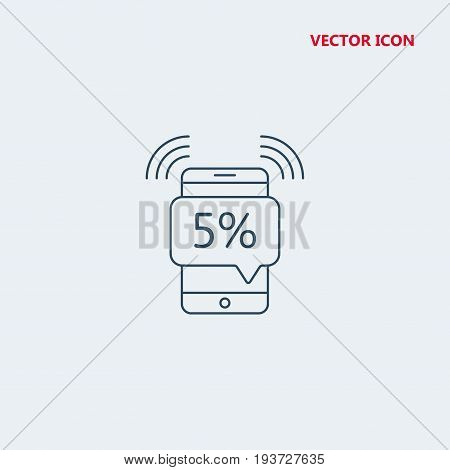 smartphone with speech bubble and discount Icon, smartphone with speech bubble and discount Icon Eps10, smartphone with speech bubble and discount Icon Vector