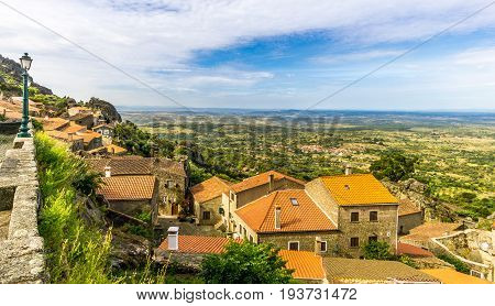 View at the roofs of houses in Monsanto village - Portugal