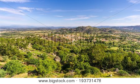 View from Monsanto to countryside with Relva village in Portugal