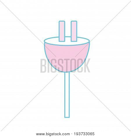 electric power cable to voltage connection vector illustration