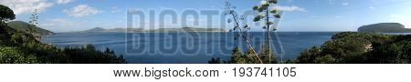 Panoramic shot of Capo Caccia Bay - Alghero - Sardinia
