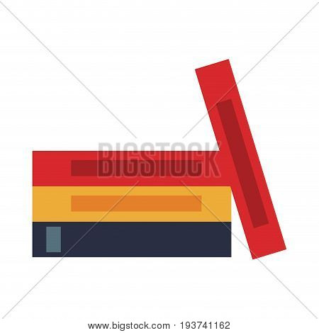 stack books literature office supply vector illustration