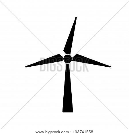 contour windpower technology to environment protection vector illustration