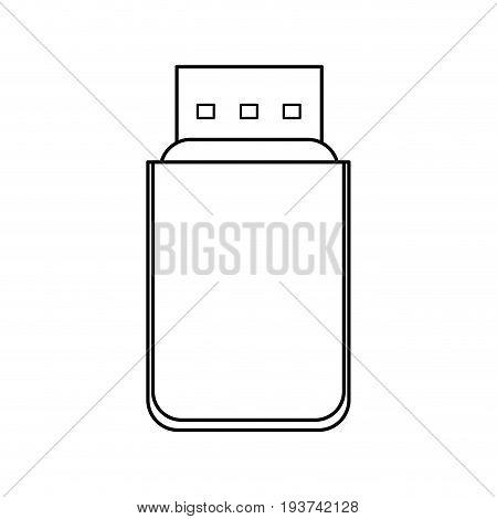 usb device backup information technology vector illustration