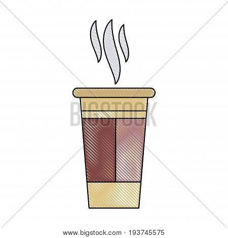 paper coffee cup portable fresh aroma break vector illustration