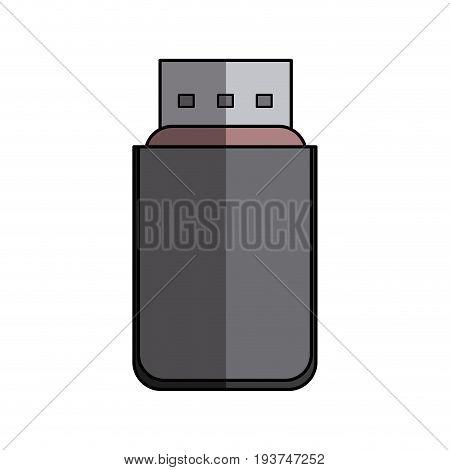 usb information backup device technology vector illustration