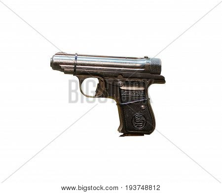 Wroclaw, Poland - July 4, 2017: Close Up On Sauer 30 Beholden  Handgun Isolated On White