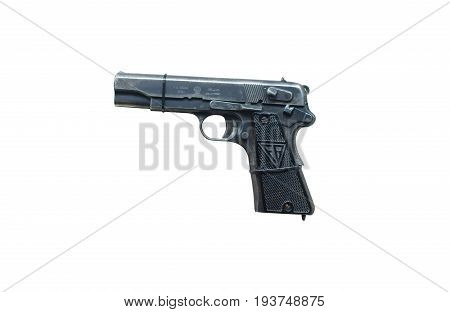 Wroclaw, Poland - July 4, 2017: Close Up On Vis 35  Handgun Isolated On White