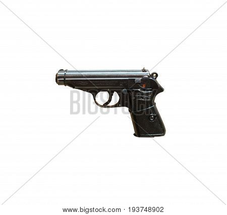 Wroclaw, Poland - July 4, 2017: Close Up On Walther Pp  Handgun Isolated On White