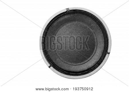 Small loudspeaker on a white background .