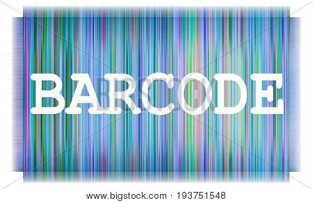 Abstract and modern bar code illustration isolated on white background