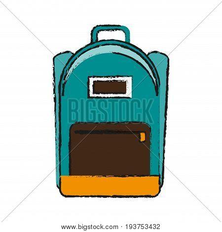 school backpack icon image vector illustration design