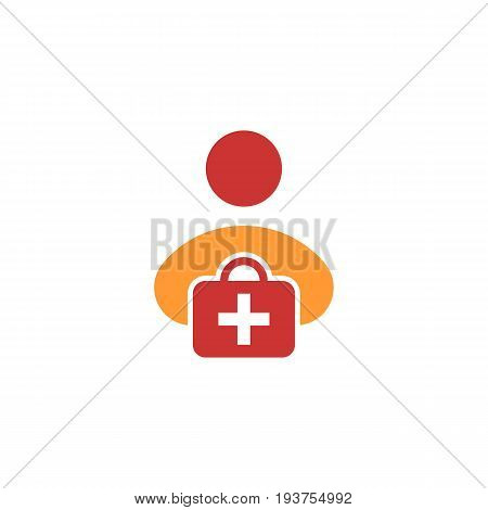 first aid kit flat icon. Vector on white background, eps 10