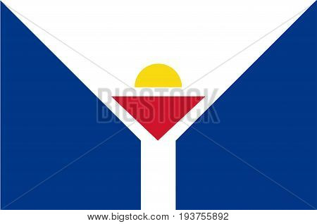 Flag of Saint Martin officially the Collectivity of Saint Martin is an overseas collectivity of France in the Caribbean. Vector illustration