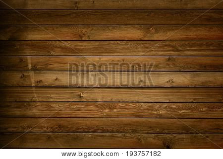 Brown Barn Wooden Wall Planking Texture. Old Wood Rustic dark Shabby Background.