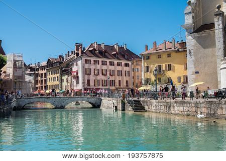 ANNECY FRANCE - JUNE 17 2017: Annecy -