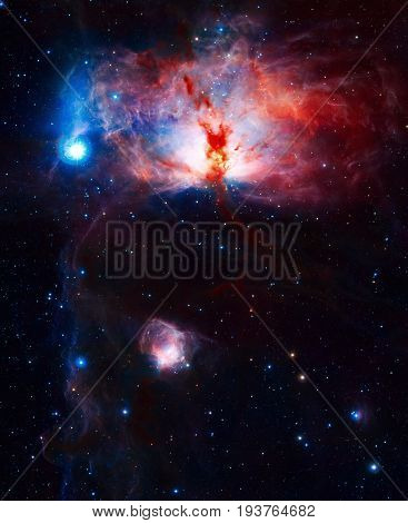 Star-forming Region Flame Nebula In The Constellation Of Orion.