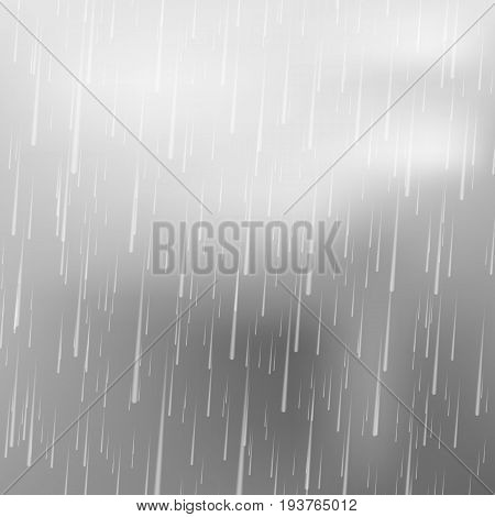 Realistic rain drops. Rain isolated. Vector illustration. Eps 10.