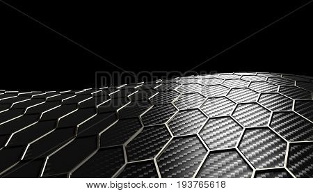 hexagonal carbon fiber background 3d rendering image
