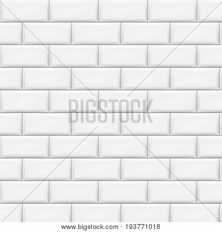 Horizontal white tiles background. Vector illustration. Eps 10.