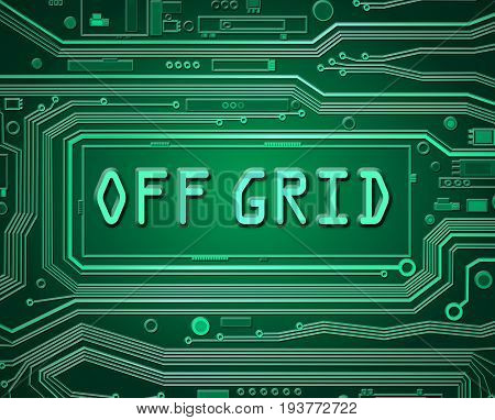 3d abstract style illustration depicting printed circuit board components with an