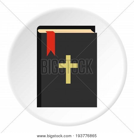 Bible icon in flat circle isolated vector illustration for web