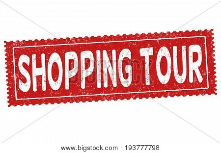 Shopping Tour Sign Or Stamp