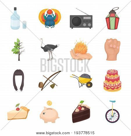 Alcohol, magic, beauty and other  icon in cartoon style.Circus, food, finance icons in set collection.
