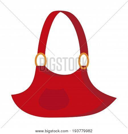 Icon in flat design fashion clothes Handbag