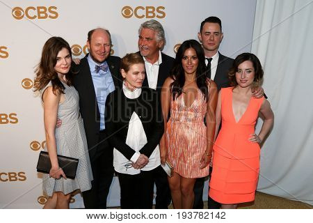 The cast of Life in Pieces attends the 2015 CBS Upfront at The Tent at Lincoln Center on May 13, 2015 in New York City.